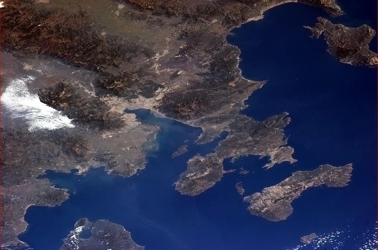 Twitter / Cmdr_Hadfield: Izmir, Turkey, with the ancient city of Ephesus ...