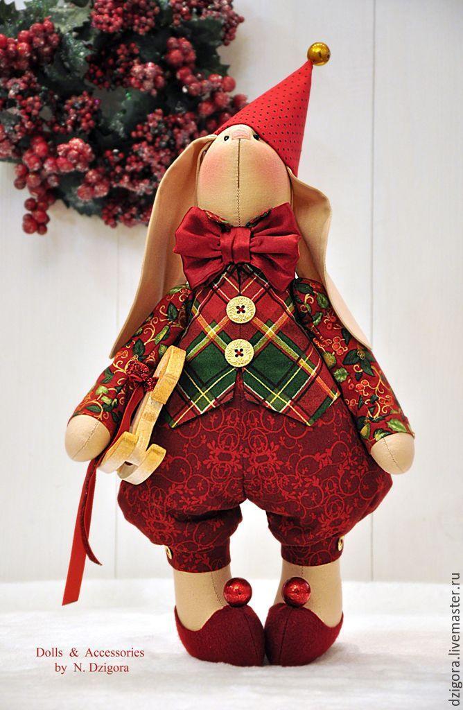 Купить Рождественский кролик Питер - зайцы, заяц, новогодний заяц, зайка, купить зайца