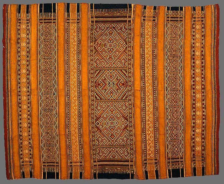 Paminggir or Abung people Woman's ceremonial skirt [tapis tusukan ratu] 19th century Kota Bumi Lampung south Sumatra Indonesia silk, natural dyes