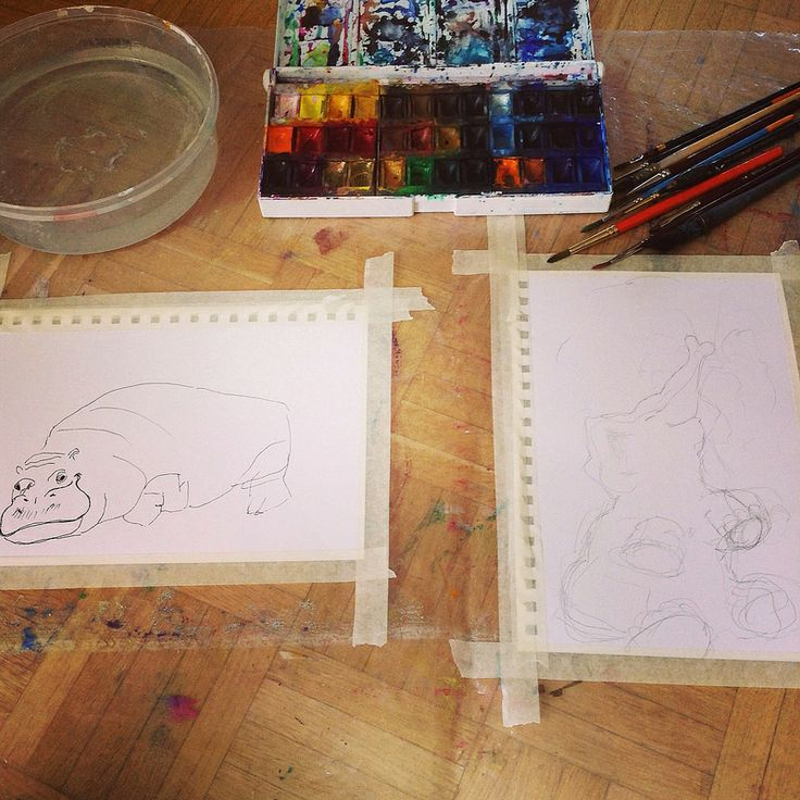 Starting out with rhino and elephant. #workinprogress #summerfreeflow2014