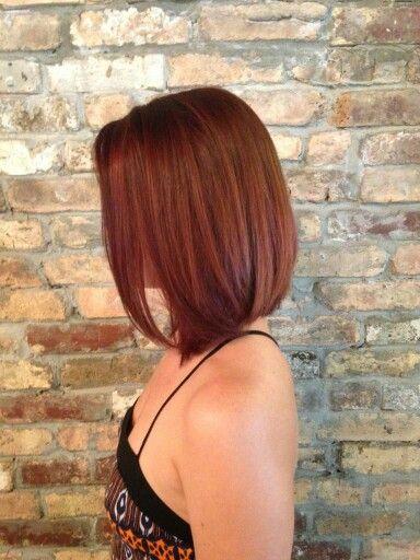 Long bob & auburn. Fall time hair