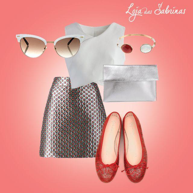 Dê mais estilo e glamour ao seu verão com uma tendência desta estação: as nossas Sabrinas Cardinal.  http://www.lojadassabrinas.com/product/cardinal