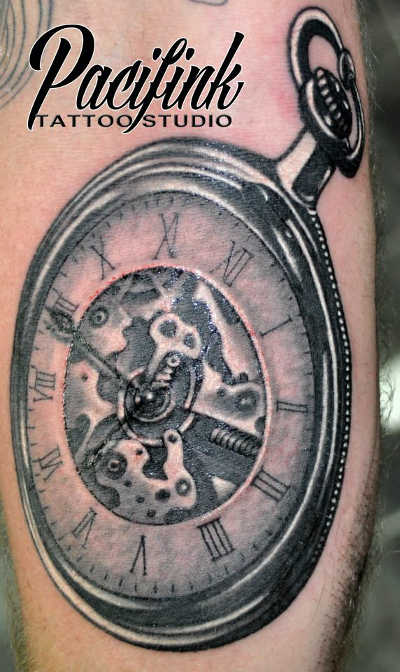 steampunk watch from Pacifink Tattoo