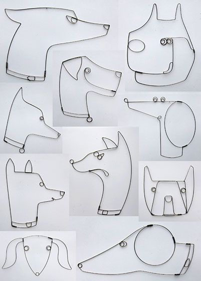 RODGER STEVENS. Continuous line animal heads project idea.