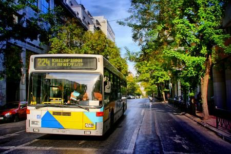 bus in town Photo by peter halas — National Geographic Your Shot