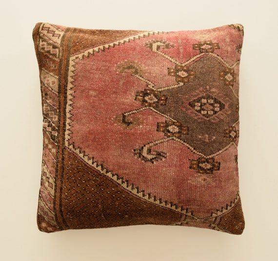 Carpet Pillow Cover 28x28 Moroccan Pillow Moroccan Cushion