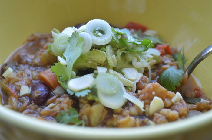 Hearty vegetable chili