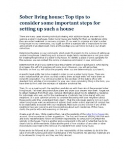 Sober living house: Top tips to consider some important steps for setting up such a house