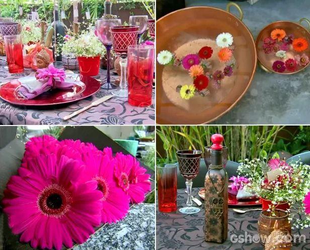 Que tal receber os amigos para jantar com uma decoração tailandesa? A ideia é investir nas cores e flores  → #redeglobo #gshow #decoração #colors #inspired #MaisVoce #plantas #rosas
