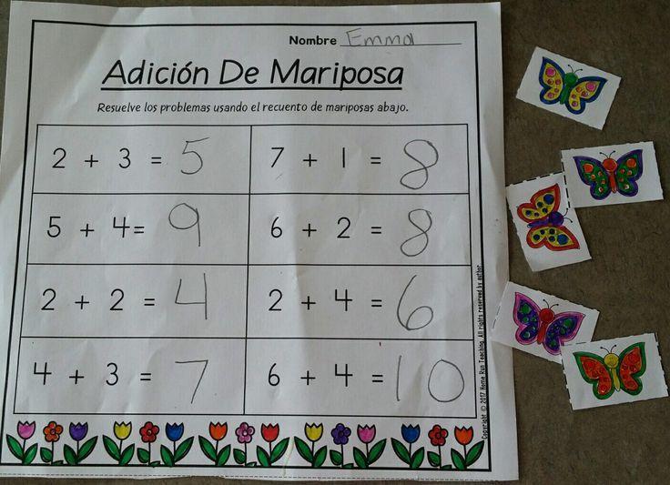 Componer y descomponer números. Paquete de matematicas y lectura para abril (Spanish April Math and Literacy Packet). Este paquete contiene 20 hojas de cálculo matemáticas y 20 hojas de trabajo de lectura. Las hojas de trabajo incluyen palabras de alta frecuencia, lectura de palabras sencillas,  localización de oraciones, lectura de frases sencillas, 10 cuadros,identificando los números 11-50, uno más y uno menos, adición, y formas 2D y 3D, y mas.
