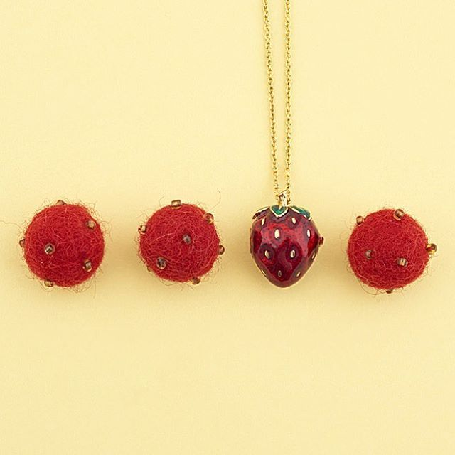 ✨  Our Strawberries are back! ✨ #BillSkinner #StrawberryJewellery #Strawberry #Summer