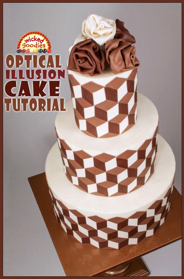 Optical Illusion Cake Video Tutorial (Pinterest)