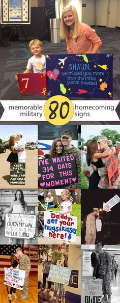 80 Signs & Ideas For Military Homecomings & Welcome Home Events | #military #homecoming