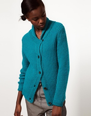 Paul by Paul Smith Chunky Ribbed Knitted Cardigan
