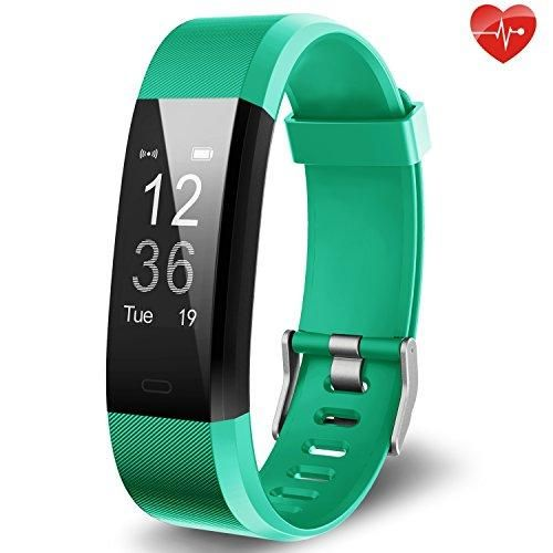 Fitness Tracker, Activity Tracker, Waterproof Sports Smart Bracelet, Pedometer Wristband with Heart Rate Monitor - 4 Colors