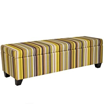 Angelo:HOME™ Kent Storage Ottoman In Sunflower Yellow Stripe