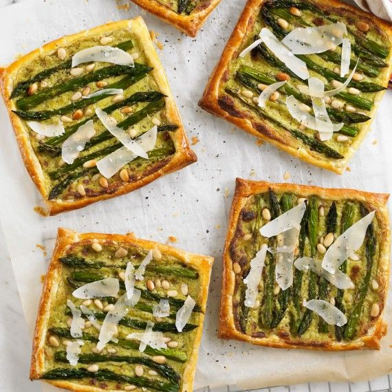 Asparagus and pesto tarts are a picnic favourite