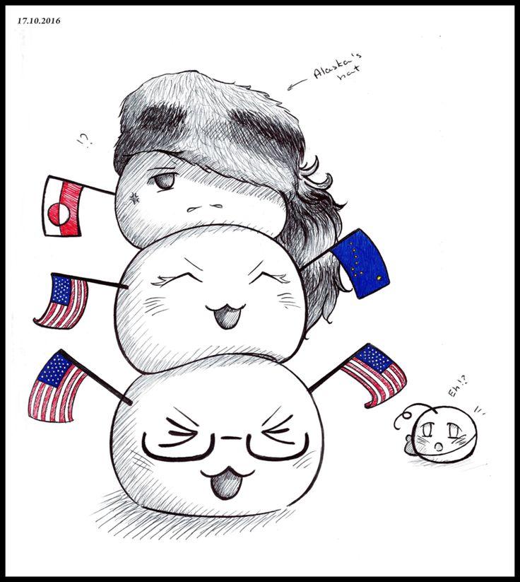 Inktober #17: Americans! by Kei2000