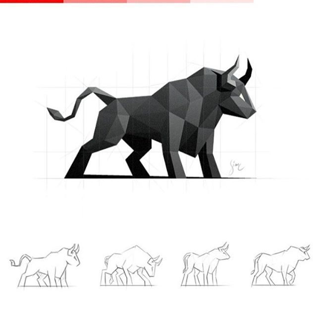 Digging low poly designs lately.  Bull