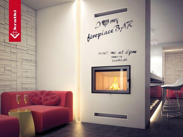 Wkład kominkowy ZIBI 12 kW #kratkipl #kratki #wnętrze #restauracja #bar