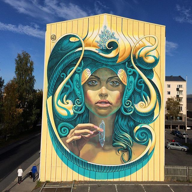 Prosperity, Finland 2016 for #UPEA16 fest. @katutaide #wd_wilddrawing #wdstreetart #mural #graffiti #streetart #crystalhealing