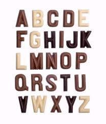 Chocolade letters voor de sint