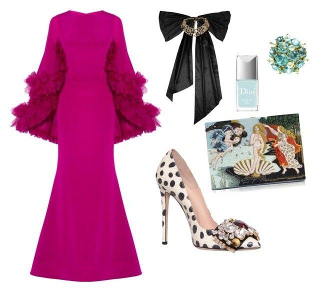 """Emmy's wh*re"" by estebban-aguila on Polyvore featuring moda, Christian Siriano, GEDEBE, Oscar de la Renta, Olympia Le-Tan y Christian Dior"