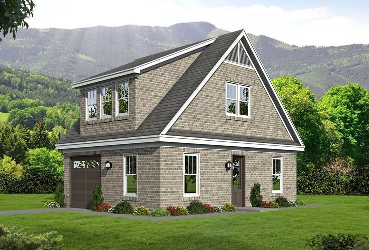 Plan 68447VR: Detached Garage With Rec Room And Office