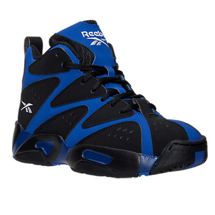 Reebok Unisex Kamikaze I Mid (Big Kid) Blue Print/Black/White Sneaker 5.5 Big Kid Medium. Upper height: Mid. Basketball Shoes. Great quality, very comfortable.