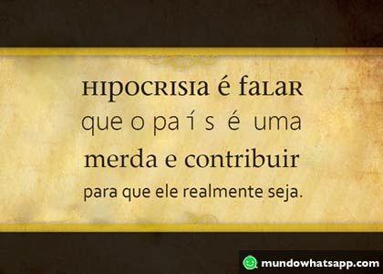 Hipocrisia é falar mal do governo e estacionar nas vagas de deficientes e idosos ....