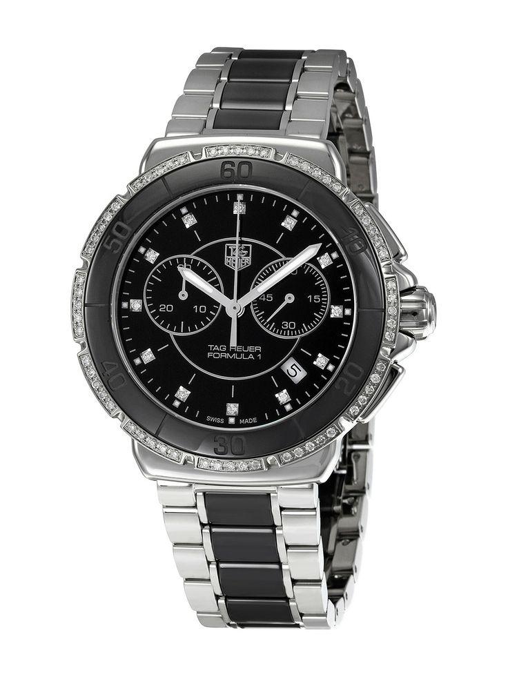 Tag Heuer Men's Carrera Automatic Fixed Stainless Steel Bezel Watch NZ$5,326.90 Gilt