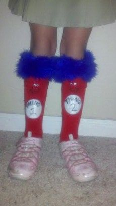Seussical Crazy Socks - Thing 1 & Thing 2