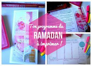 programme d ramadan à imprimer - ramadan free printable