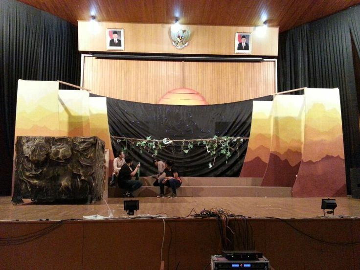 Made it more or less in 7 months. This is our own Lion King set a.k.a Prideland. The pride rock, sun, jungle..really are our pride! FLL-SWCU annual drama performance 2015 The Lion King