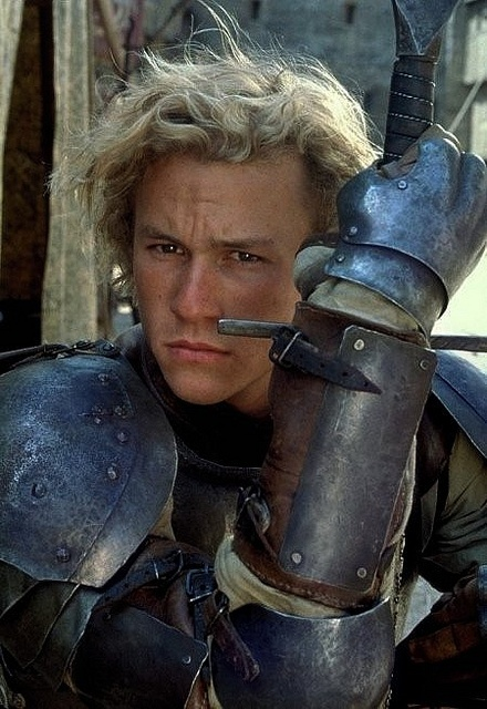 Once in awhile I find a picture of Heath Ledger where he looks a bit like Kevin. It's the furrowed brow and brown eyes that do it.
