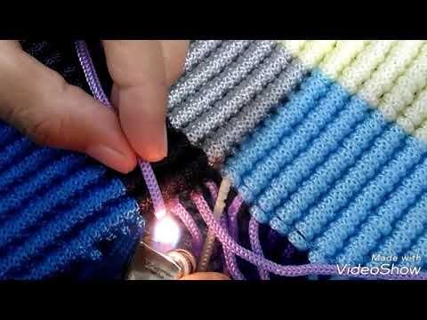 Cara membuat alas tas tali kur motif zigzag amplop - YouTube ... b46e8620d4