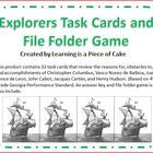 This product contains 32 task cards that review the reasons for, obstacles to, and accomplishments of Christopher Columbus, Vasco Nunez de Balboa, ...