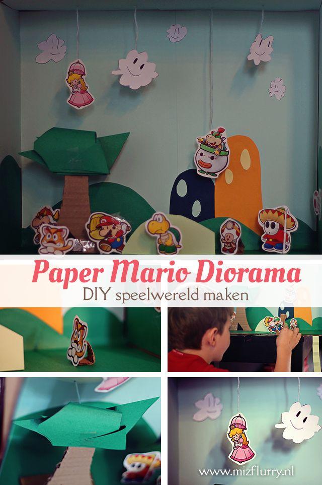 Maak zelf een originele speelwereld samen met en voor je kind(eren). Wij knutselden een Paper Mario Diorama.
