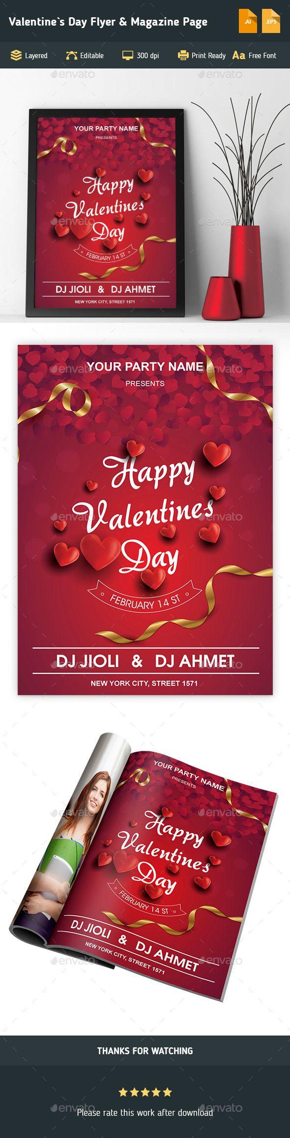 36 besten Valentines Day Templates Bilder auf Pinterest | Flyer ...