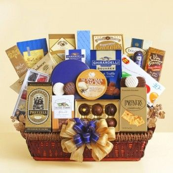 49 best gifts for business associates images on pinterest basket for a greater company ghirardelli gourmet gift basket negle Gallery