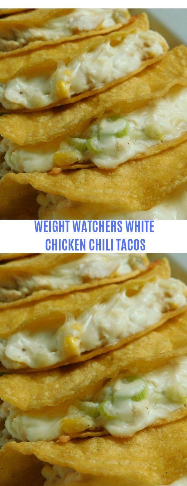Weight Watchers White Chicken Chili Tacos #Weight Watchers # Chicken # Chili # Tacos