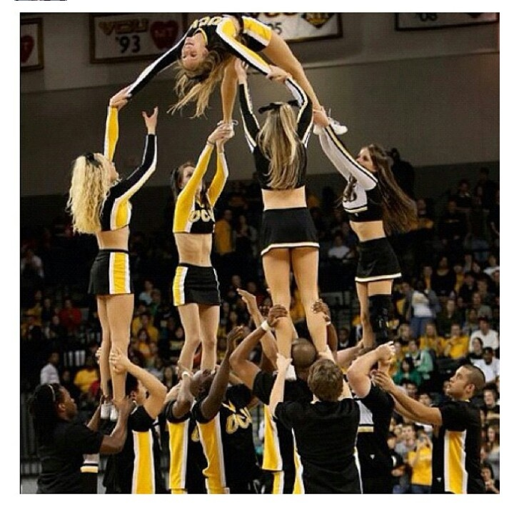 A stunt is not just about the flyers it's about how the flyers get up there and stay up there a stunt can't go on with just a base or just a flyer you need them both