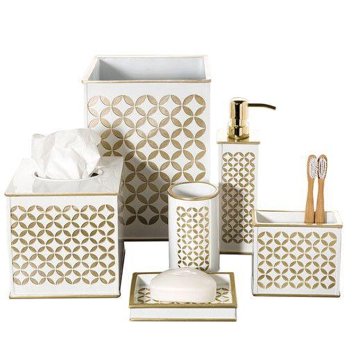 diamond bathroom accessories. Diamond Lattice 6-Piece Bathroom Accessory Set Accessories