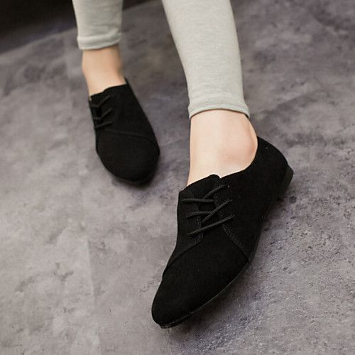 e5661e57 Mujer Zapatos Tejido Primavera Verano Otoño Confort Tacón Plano Con Cordón  Para Casual Negro Gris Amarillo Rojo 2018 - $303.43