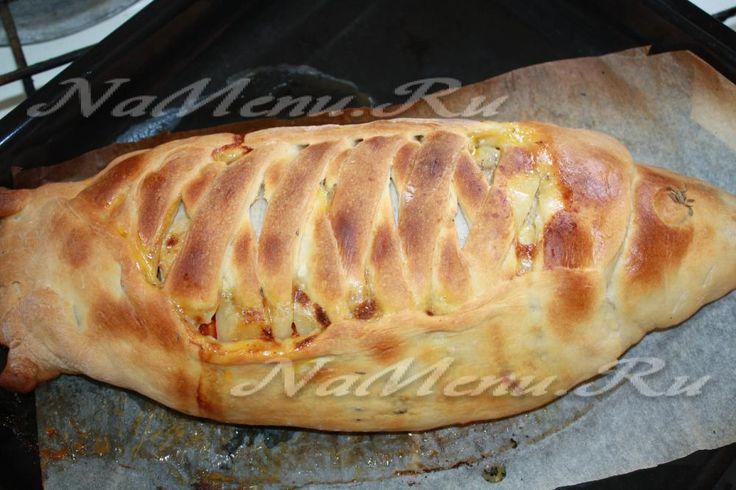 Рыбный пирог рецепт с фото   Идеи для блюд, Рецепты