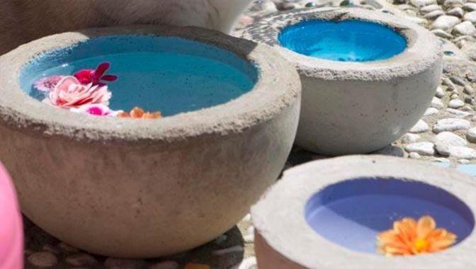 Aus Sand und Zement Schönes gießen Kreatives aus Beton für den Garten