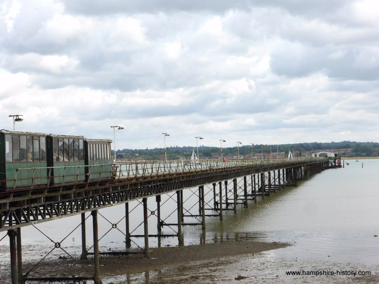 Hythe Pier Railway Hampshire. The oldest pier railway to have been in continuous use in the world.