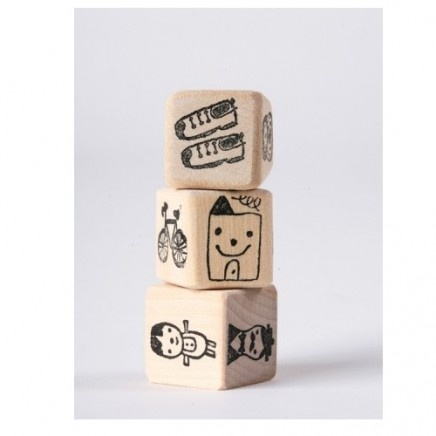 Story CubesDiy Stories, Alphabet Block, Stories Dice, Plays Learning, Small Group, Kids Crafts, Stories Cubes, Wooden Block, Cubes Plays