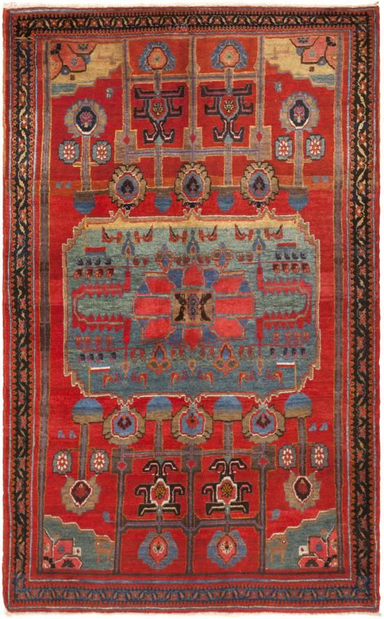 Antique Kurdish Bidjar Rug