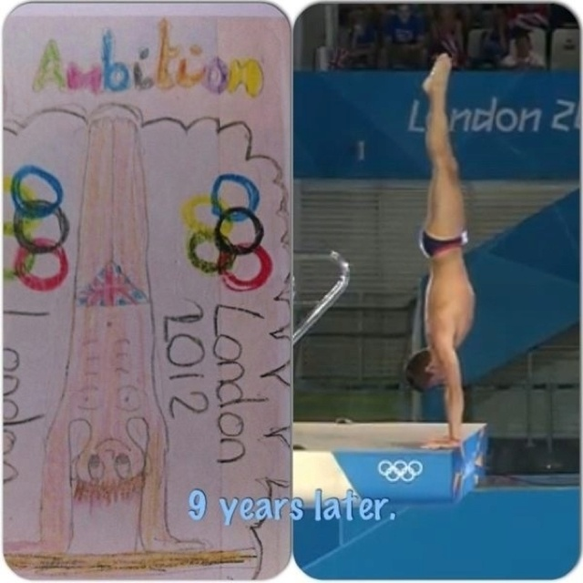 From this...to this. Congratulations Tom Daley #Diving #LondonOlympics